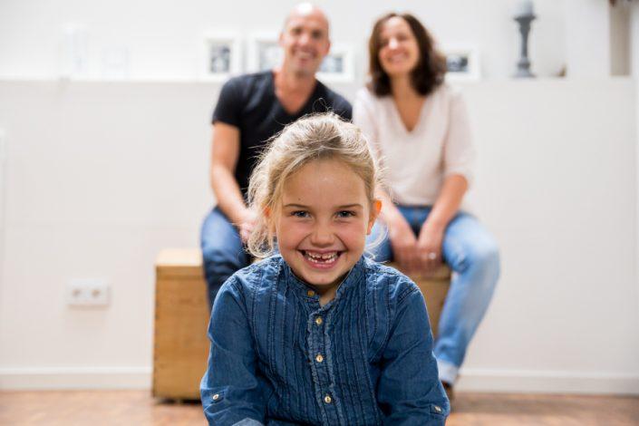 Familienfoto zu dritt